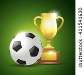 gold cup with a soccer ball....   Shutterstock .eps vector #411541630