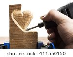 Carving Wood In Heart Shape...