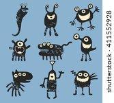 vector set of cartoon cute...   Shutterstock .eps vector #411552928