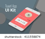travel mobile app ui smartphone ...
