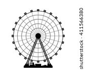 vector illustration. ferris... | Shutterstock .eps vector #411566380
