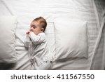 baby in bed | Shutterstock . vector #411567550