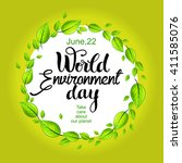 world environment day card with ... | Shutterstock .eps vector #411585076