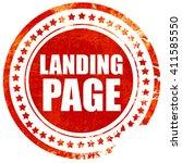 landing page  red grunge stamp...