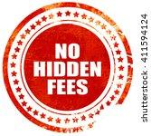 No Hidden Fees  Red Grunge...