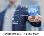 renewable energy presentation... | Shutterstock . vector #411595024