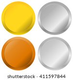 gold  silver  bronze and... | Shutterstock .eps vector #411597844