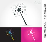 magic wand isolate icon with...   Shutterstock .eps vector #411606733