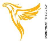 phoenix in flames   Shutterstock .eps vector #411612469