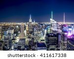 new york skyline in the night | Shutterstock . vector #411617338