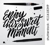 enjoy this sweet moment.... | Shutterstock .eps vector #411618349