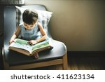 offspring toddler adolescene... | Shutterstock . vector #411623134