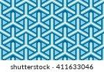 seamless azure blue isometric... | Shutterstock .eps vector #411633046