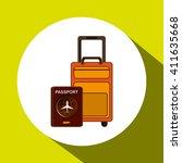 travel illustration design ... | Shutterstock .eps vector #411635668