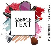 cosmetic products promotion... | Shutterstock . vector #411659620