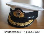 royal naval officers cap  hms... | Shutterstock . vector #411663130
