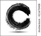 vector grunge circle. grunge... | Shutterstock .eps vector #411670408
