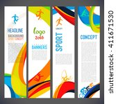 vector template design brochure ... | Shutterstock .eps vector #411671530