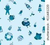 christmas seamless pattern... | Shutterstock . vector #411681220