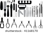manicure  and chiropody tools... | Shutterstock .eps vector #41168170