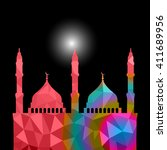 beautiful religious eid... | Shutterstock .eps vector #411689956