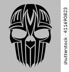 tribal tattoo skull vector | Shutterstock .eps vector #411690823