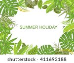 summer tropical green background | Shutterstock .eps vector #411692188