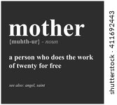 mother definition  vector... | Shutterstock .eps vector #411692443