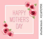 card design for mother's day... | Shutterstock .eps vector #411692950