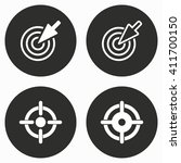 aim    vector icon.... | Shutterstock .eps vector #411700150