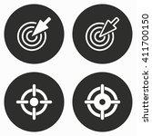 aim    vector icon.... | Shutterstock .eps vector #411700150