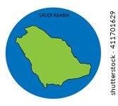 saudi arabia map | Shutterstock . vector #411701629