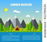 vector family vacation... | Shutterstock .eps vector #411704224
