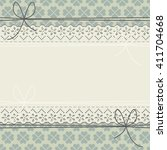 decorative lace frame with blue ... | Shutterstock .eps vector #411704668