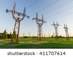 high voltage electrical... | Shutterstock . vector #411707614