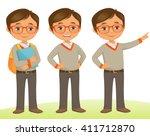 student kid | Shutterstock .eps vector #411712870