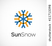 hot and cold symbol. sun and... | Shutterstock .eps vector #411713398