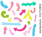 vector set of funny arrows   Shutterstock .eps vector #411713854