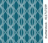 vector seamless chain pattern.... | Shutterstock .eps vector #411717259