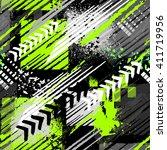 abstract seamless grunge... | Shutterstock .eps vector #411719956