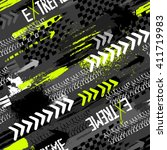 abstract seamless grunge... | Shutterstock .eps vector #411719983