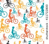 seamless textile pattern with... | Shutterstock . vector #411722800