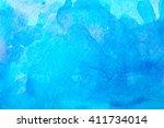 blue streaks of watercolor...   Shutterstock . vector #411734014
