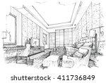 job skating interior design  ... | Shutterstock . vector #411736849