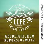 slab serif font in the style of ...   Shutterstock .eps vector #411736960
