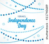 israel independence day... | Shutterstock .eps vector #411740689