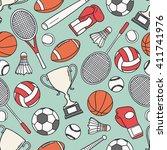 hand drawn seamless pattern... | Shutterstock .eps vector #411741976