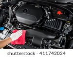 car detailing series   cleaning ... | Shutterstock . vector #411742024