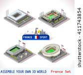 france stadium soccer icon.... | Shutterstock .eps vector #411743854