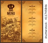 restaurant menu design. vector... | Shutterstock .eps vector #411745846